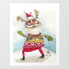 Steampunk Santa Art Print