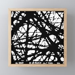 tension, black and white Framed Mini Art Print