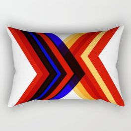 Coloured straight abstract lines resulting in a X format Rectangular Pillow