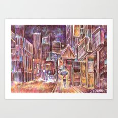 City Lights Art Print