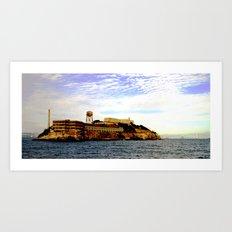 alcatraz island 1 Art Print