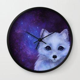Arctic Fox (color version II.) Wall Clock