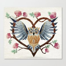 lovely owl Canvas Print