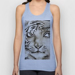 Tiger or woman Unisex Tank Top