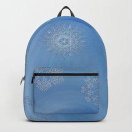 Roses & Snowflakes Winter Genie Bottle Backpack