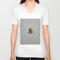 bee V-neck T-shirts featuring Bee by Michael Creese