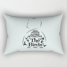 The Birds, Alfred Hitchcock, alternative movie poster, minimal playbill, Tippi Hedren, horror film Rectangular Pillow