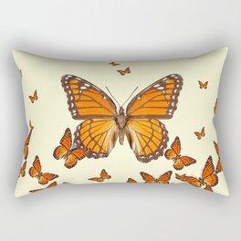 MONARCH BUTTERFLY SWARM Rectangular Pillow