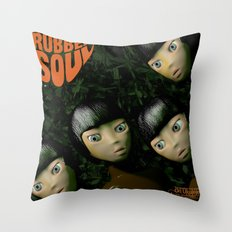 Rubber Soul Throw Pillow