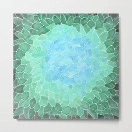 Abstract Sea Glass Metal Print