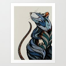 Berlin Rat Art Print