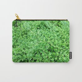 Textures in Green Carry-All Pouch