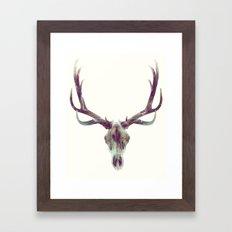 Elk Skull Framed Art Print
