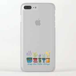 Enjoy the Little Things Clear iPhone Case