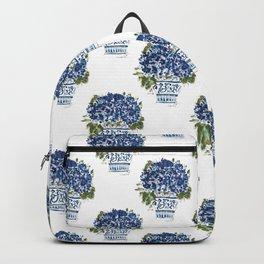 Hydrangea Chinoiserie Jenna Backpack