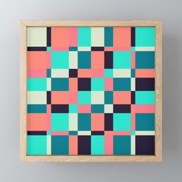 colorful squares Framed Mini Art Print