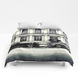 THE STREET OF LONDON IN GREYS Comforters