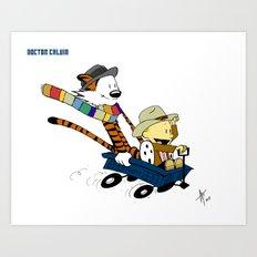 Doctor Calvin - TARDIWagon Art Print
