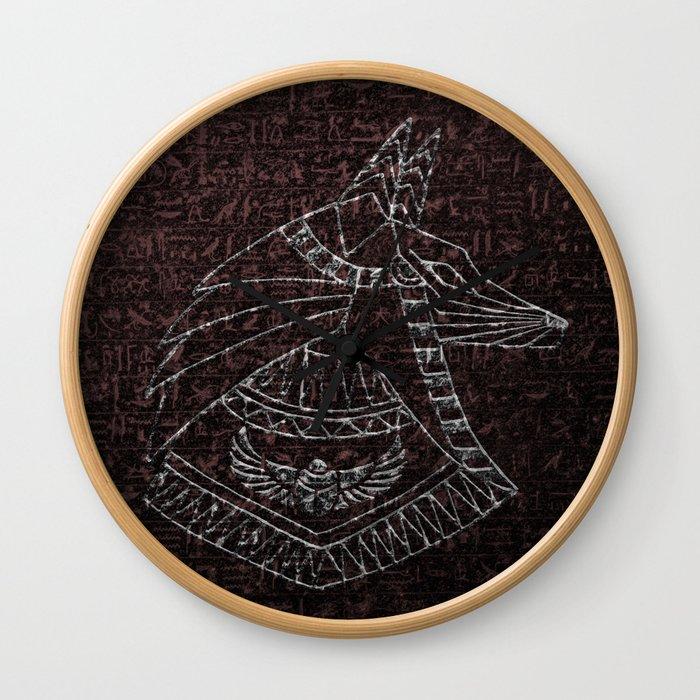 Anubis Egyptian God Wall Clock