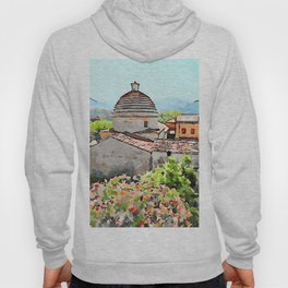 Tortora convent with flowering trees Hoody