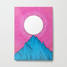 The new moon over the mountain Metal Print