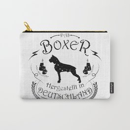 Boxer White Carry-All Pouch
