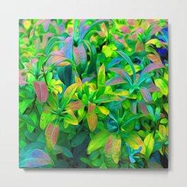 Colorful Plants Metal Print