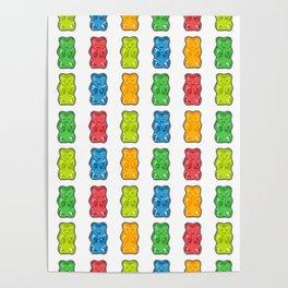 Rainbow Gummy Bears Poster