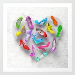 Juicy Shoes Art Print