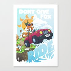 Don´t give a fox Canvas Print