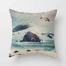 Flying Fish Throw Pillow