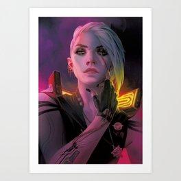 Cyberpunk Ciri Art Print