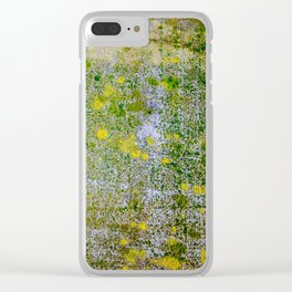 Yellow Spots. Clear iPhone Case