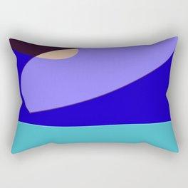 Minimal With Blue Rectangular Pillow