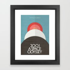 2001 a Space Odyssey - Stanley Kubrick ,Movie Poster, minimal version, vintage, retro Framed Art Print