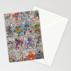 Vintage Comic Superheroes Galore (Limited Time) Stationery Cards