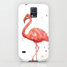 Flamingo, Pink Flamingo, Tropical, bird art, Florida Galaxy S5 Slim Case
