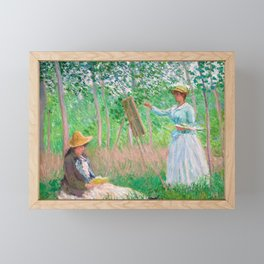 Monet - In the Woods at Giverny Framed Mini Art Print