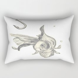 fishing in the fish tank Rectangular Pillow