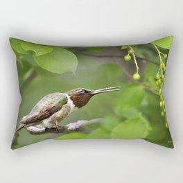Hummingbird Hiding Rectangular Pillow