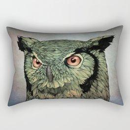 Owl - Red Eyes Rectangular Pillow