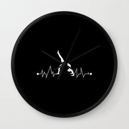 Fitness Calisthenics For Athletes Wall Clock