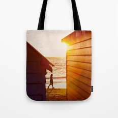 Walk Along The Beach Tote Bag