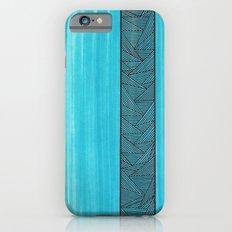 Light Blue Background iPhone 6s Slim Case
