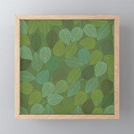 LEAVES ENSEMBLE KALE & PASTEL Framed Mini Art Print