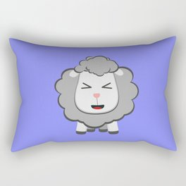 Happy Kawaii Sheep Rectangular Pillow
