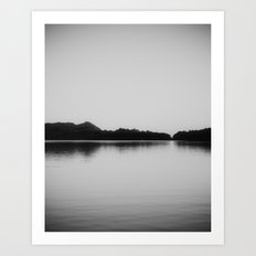 Herring Lake Black and White Art Print