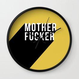 MOTHER FUCKER | Digital Art Wall Clock