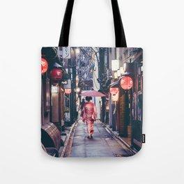 Geisha In Kyoto Tote Bag