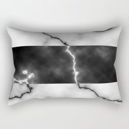 Black and white marble texture 10 Rectangular Pillow
